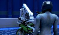 组装摩托车:工业机械组装动画